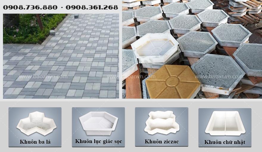 5 nhóm khuôn gạch gạch bê tông phổ biến năm 2021