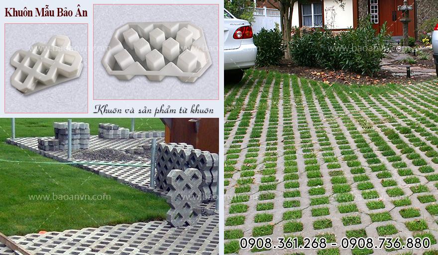 Khuôn gạch trồng cỏ lát sân vườn, vỉa hè cực đẹp, mẫu khuôn mới nhất 2021