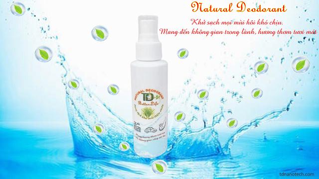 Dung dịch khử mùi thiên nhiên - Natural Deodorant