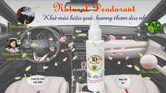 Dung dịch Nano Bạc khử mùi ô tô