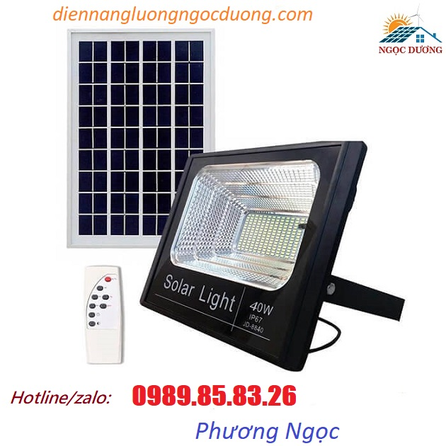 Đèn LED pha năng lượng mặt trời 40W