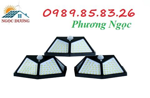 Đèn năng lượng mặt trời 100 LED, đèn sân vườn 100 bóng LED