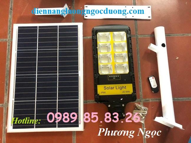 Đèn năng lượng mặt trời công suất 200W đường phố, đèn năng lượng mặt trời JD699