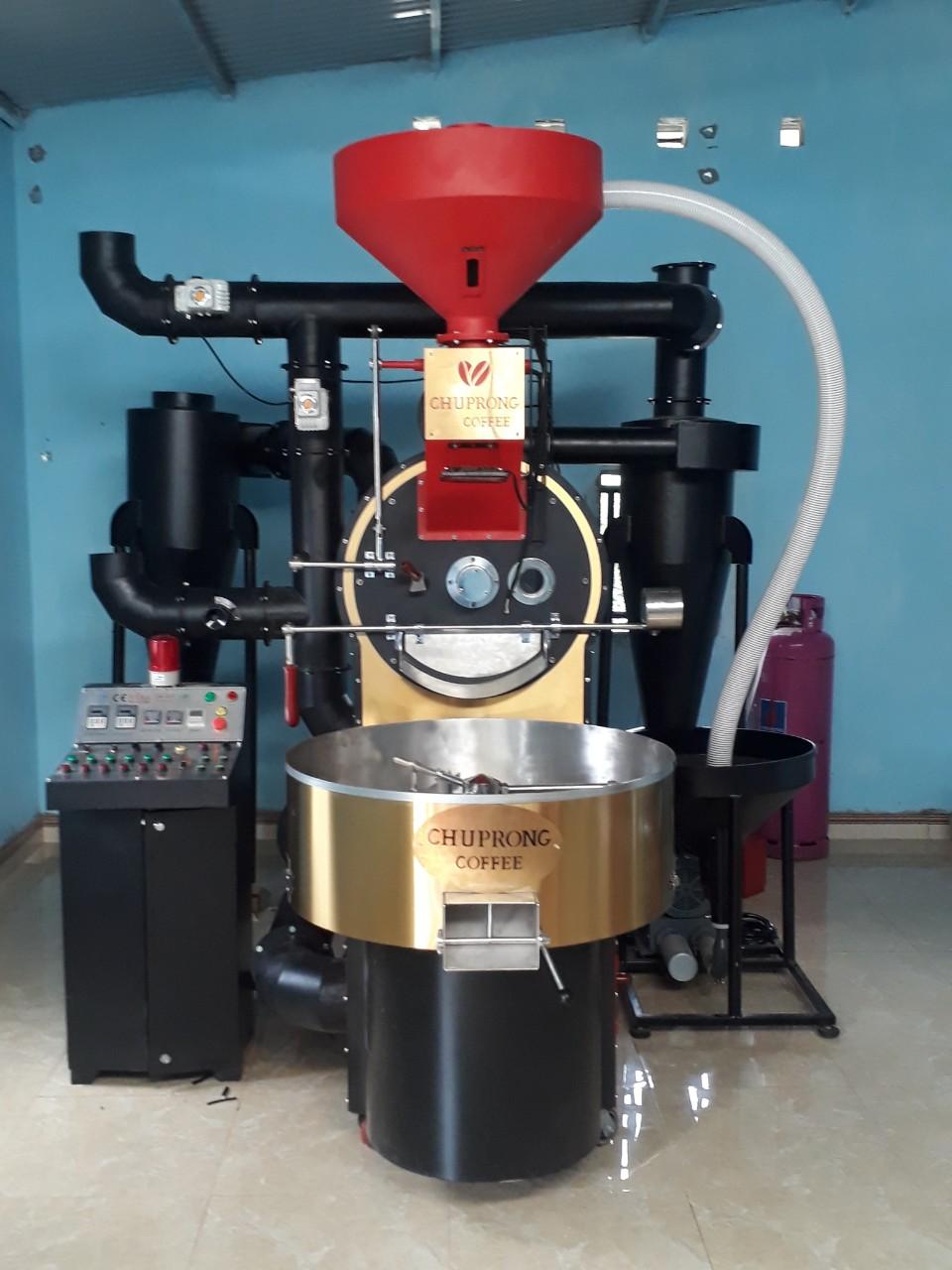 Máy rang cafe Vina Roaster công suất 30kg hot air hồi khí
