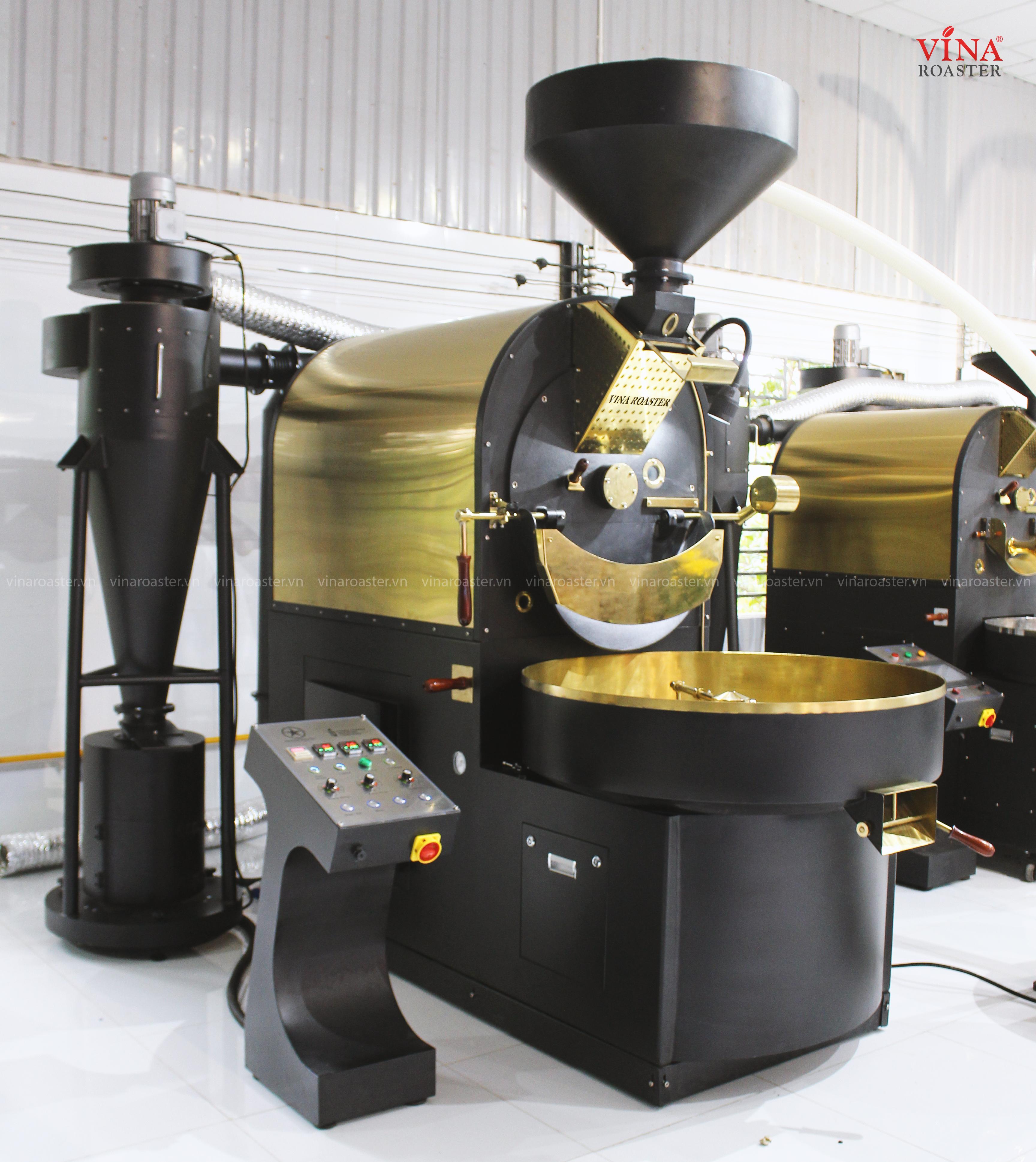 Máy rang cafe Brotek double drum công suất 20kg