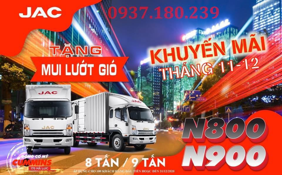 Khuyến mãi cuối năm 2020 dòng JAC N800 & N900 cho khách hàng mua xe tải tại các đại lý JAC