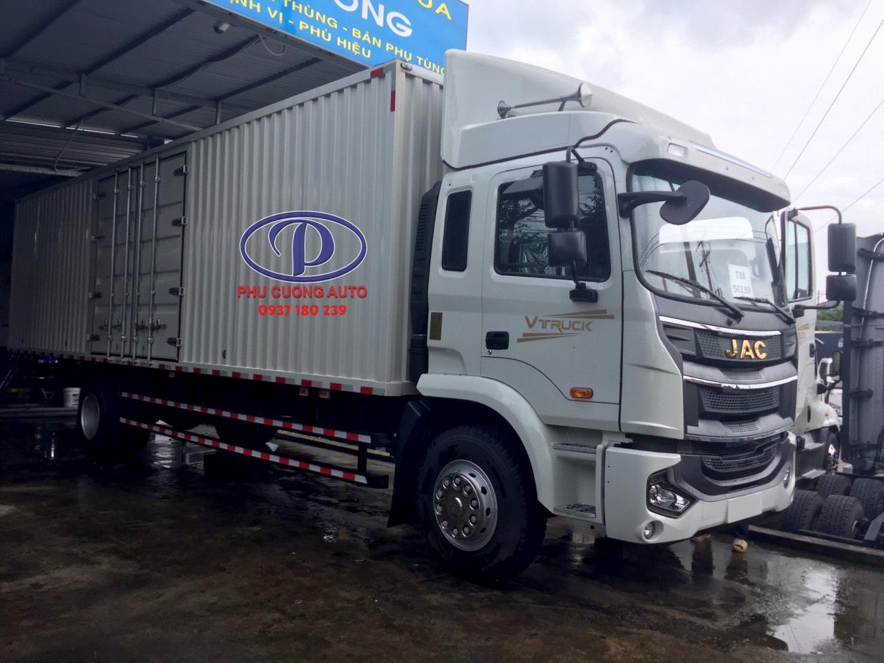 Xe tải JAC A5 xe tải nhập khẩu nguyên chiếc tải 7T1 thùng dài 9,6m