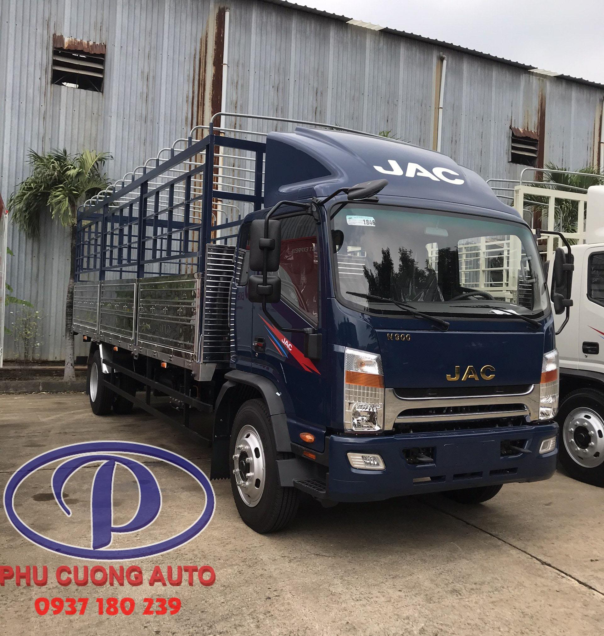 xe tải JAC N900 thùng dài 6,72m tải 9 tấn sản phẩm mới cuối năm 2020