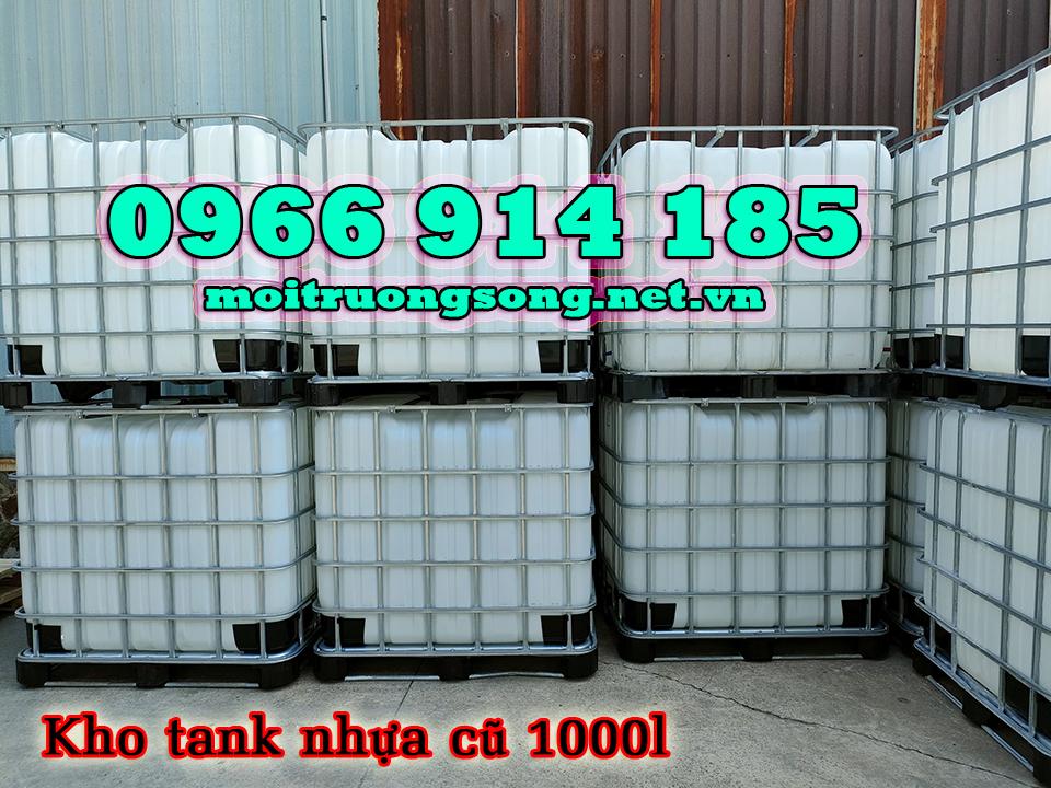 Tank nhựa 1000l cũ tình trạng trên 90% giá tốt