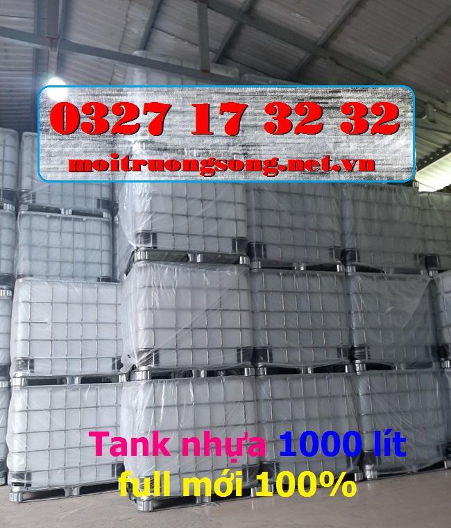 Tank nhựa IBC 1000L (lít) mới 100% nhập khẩu nguyên kiện