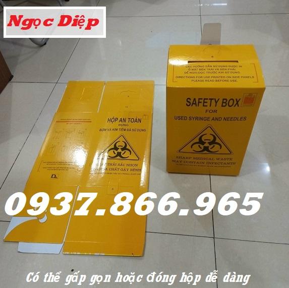 Hộp an toàn, hộp đựng bơm kim tiêm đã sử dụng