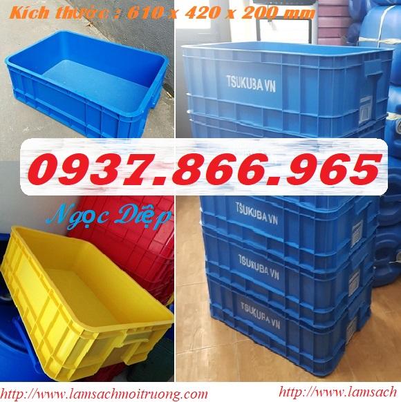 Sóng nhựa đặc, thùng nhựa có nắp đậy, thùng nhựa đựng dụng cụ
