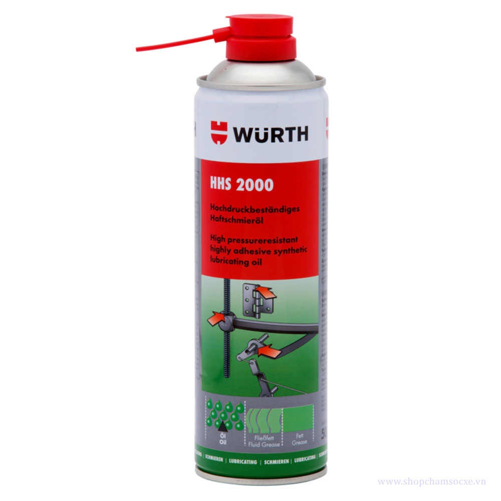 Mỡ bò nước Wurth HHS 2000 500ml