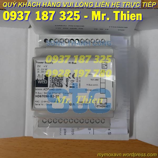 HD67056-B2-20 – Thiết bị chuyển đổi Mbus BACnet 20 kết nối – Nhà phân phối ADFweb Vietnam