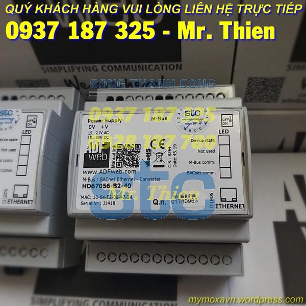 HD67056-B2-40 – Thiết bị chuyển đổi Mbus BACnet 40 kết nối – Nhà phân phối ADFweb Vietnam