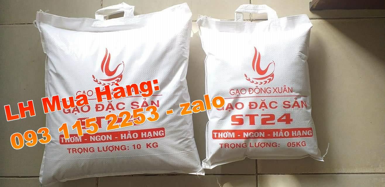 Bao đựng gạo, túi đựng gạo in flexo cho ngày tết ấm no