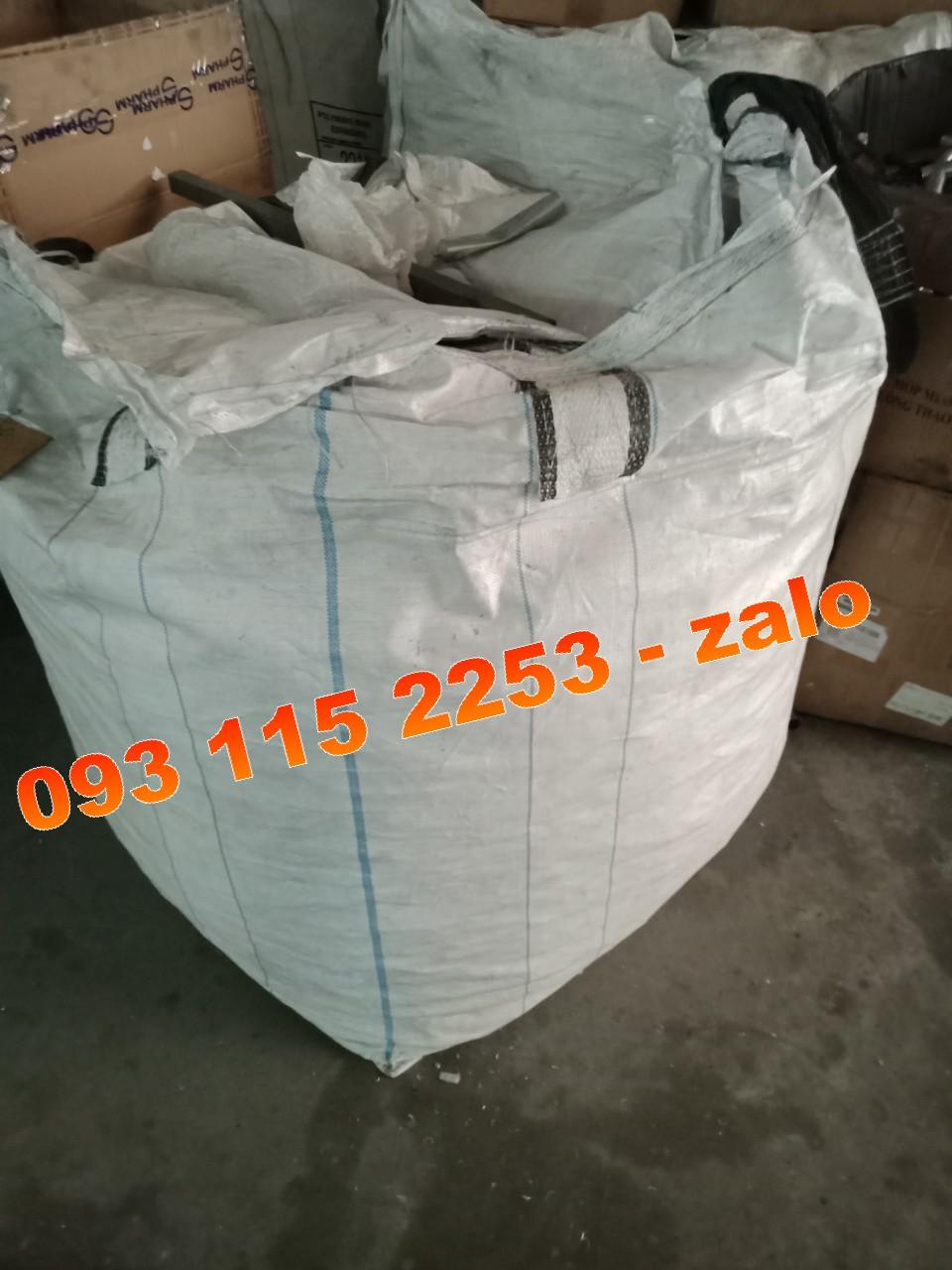 Bao jumbo 90 x 90 x 110 ống nạp đáy xả 1 tấn lúa gạo