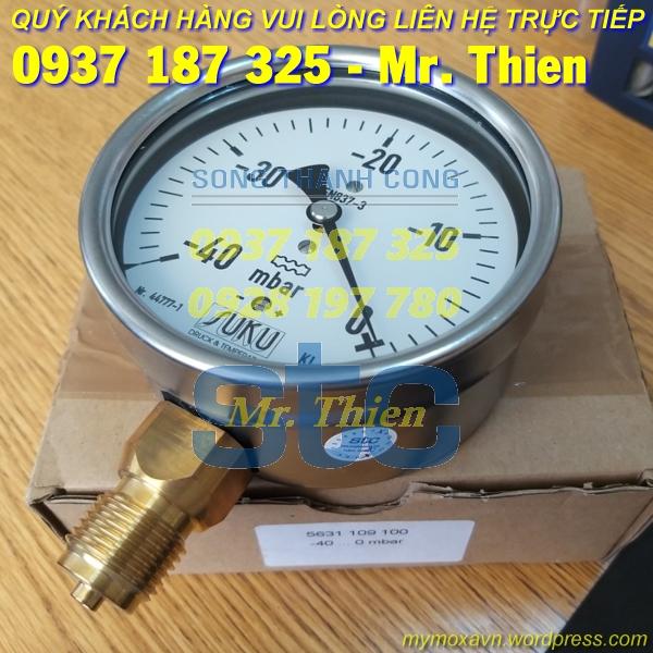 5631.109.100 – Đồng hồ đo áp suất – Suku Vietnam – Đại lí phân phối Suku