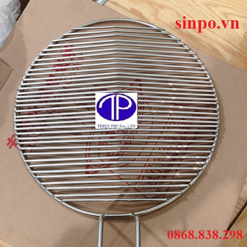 Vỉ nướng Inox Thanh Ngang, Song ngang dùng cho bếp nướng than hoa
