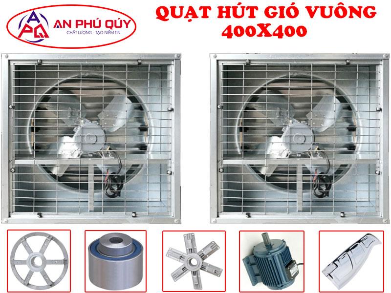 Quạt thông gió công nghiệp SHRV 400X400 chính hãng