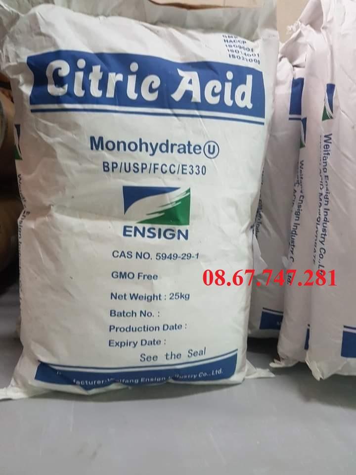 Acid Citric dùng trong Nuôi trồng Thủy sản