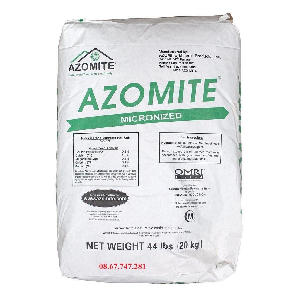 Khoáng tổng hợp AZOMITE Mỹ dùng trong Nuôi trồng Thuỷ sản