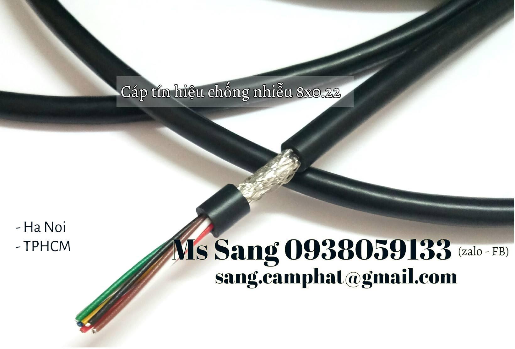 Cáp tín hiệu lưới đồng đan chống nhiễu 8 x 0.22mm
