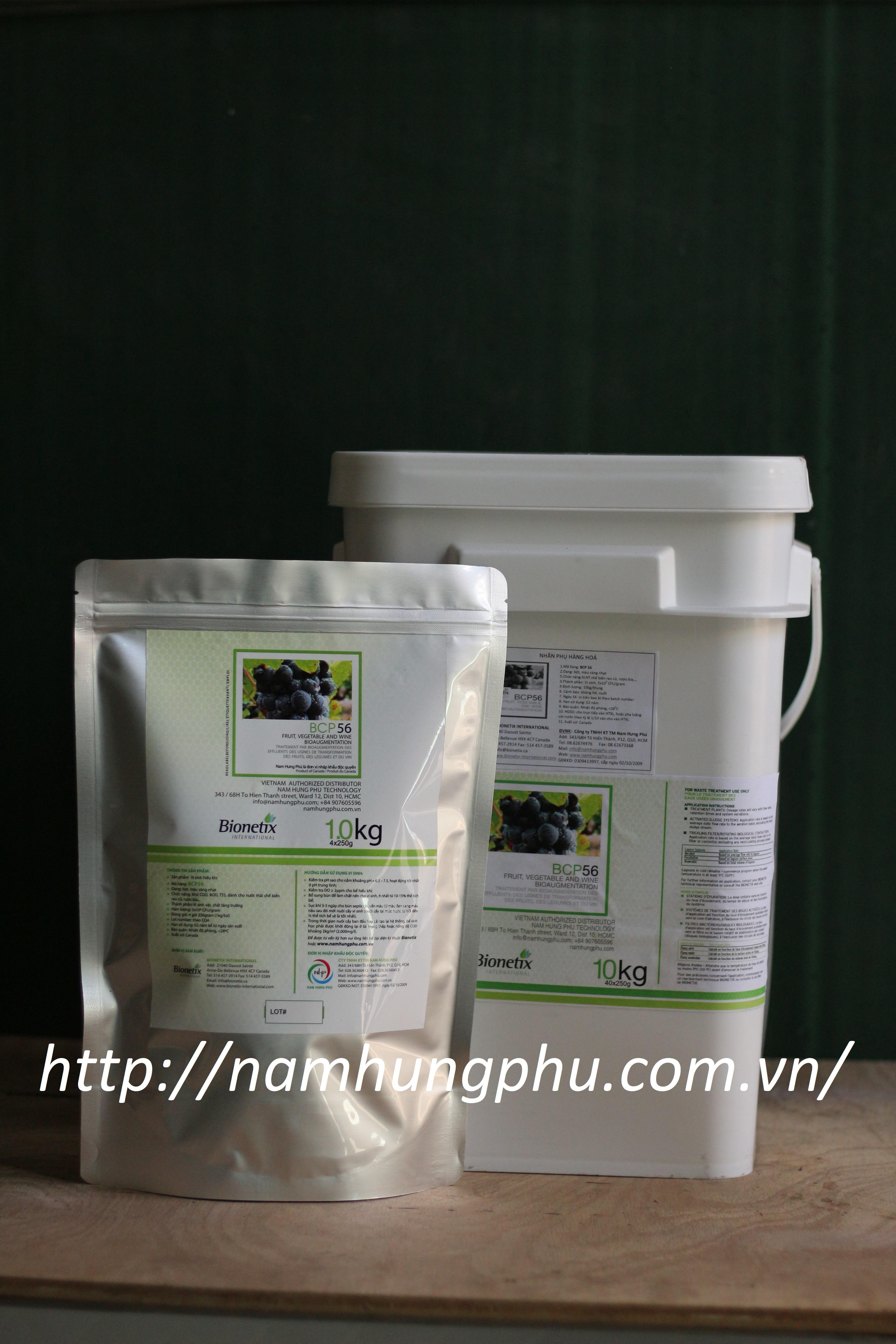 Men vi sinh xử lý nước thải sản xuất rượu, bia, thực phẩm BCP56 (Bionetix)