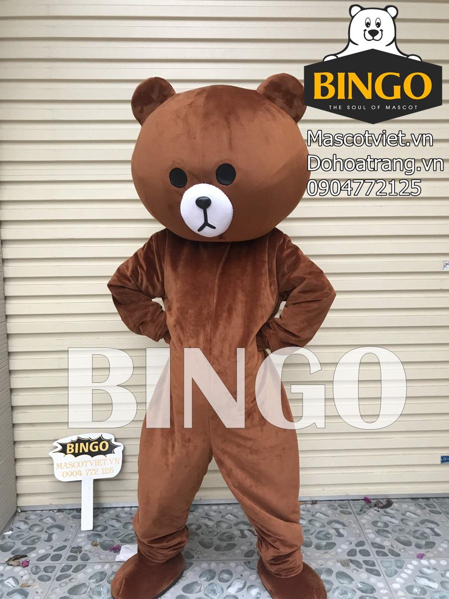 Mascot gấu brown lầy