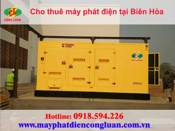 Cho thuê máy phát điện tại Biên Hòa giá rẻ