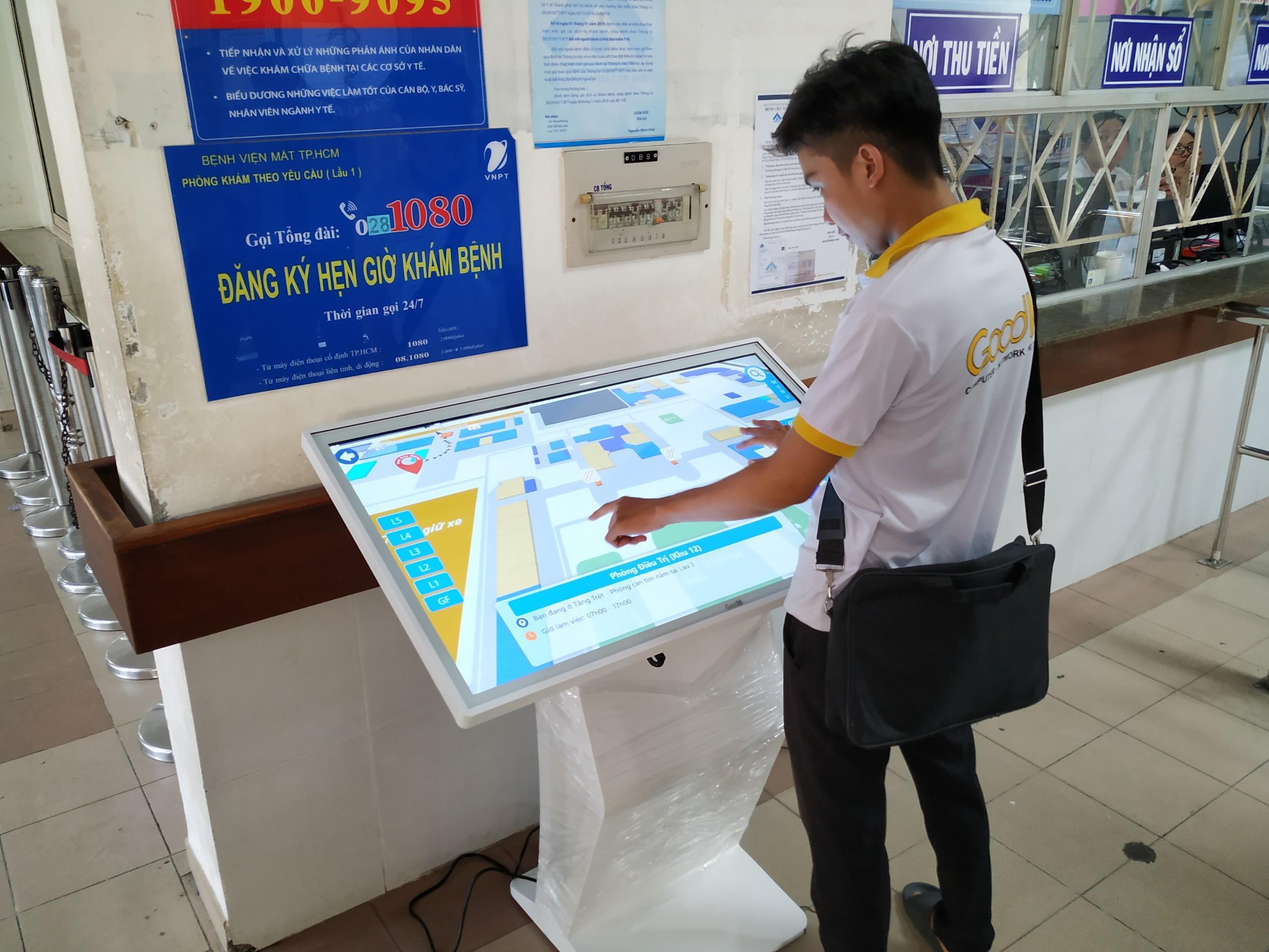 Máy tra cứu kiosk trong lĩnh vực giáo dục