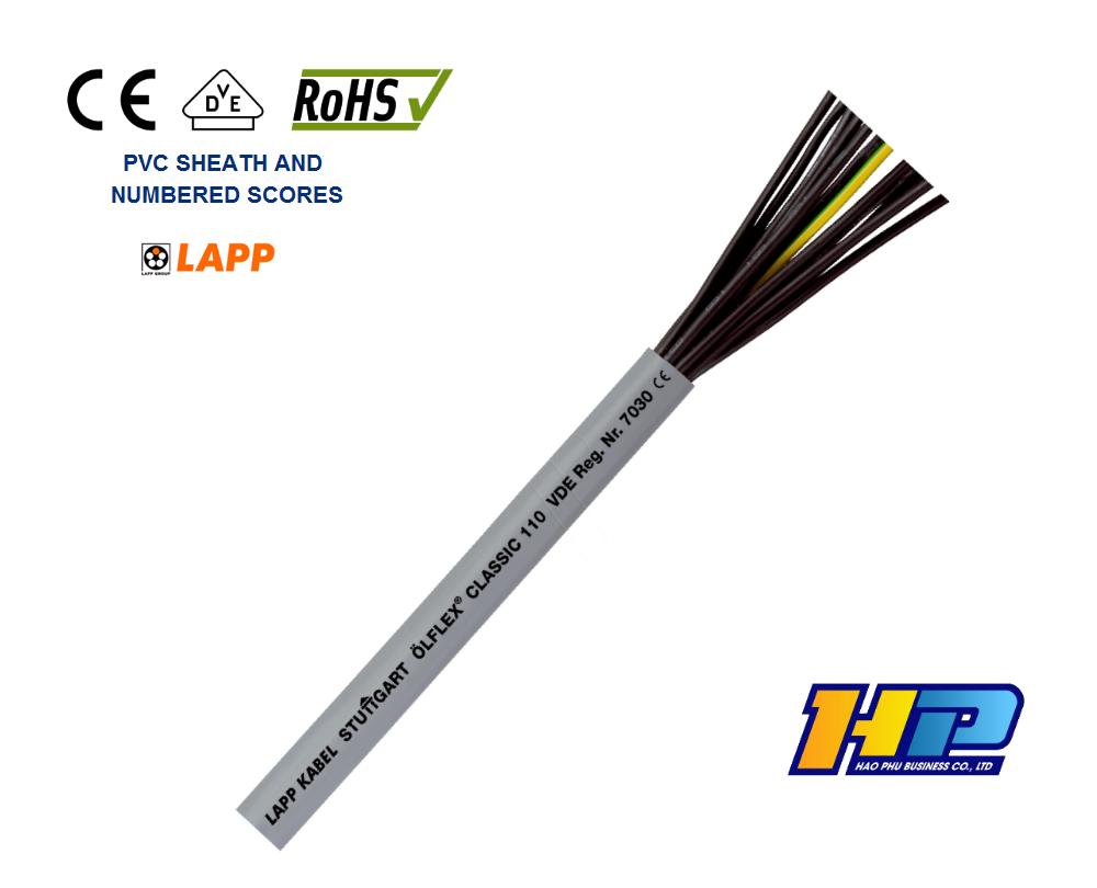 Cáp Lapp Kabel Olflex Classic 110 5G0,5 (Cuộn 305m) - Cáp nhập khẩu giá tốt HCM chính hãng