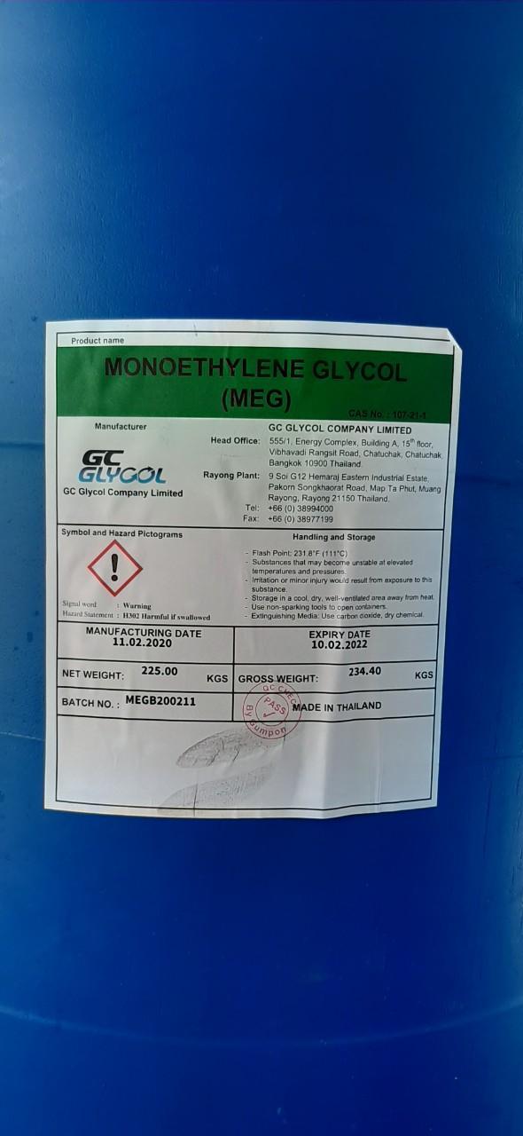 hóa chất Mono Ethylene Glycol (M.E.G), Ethylene Glycol (E.G)