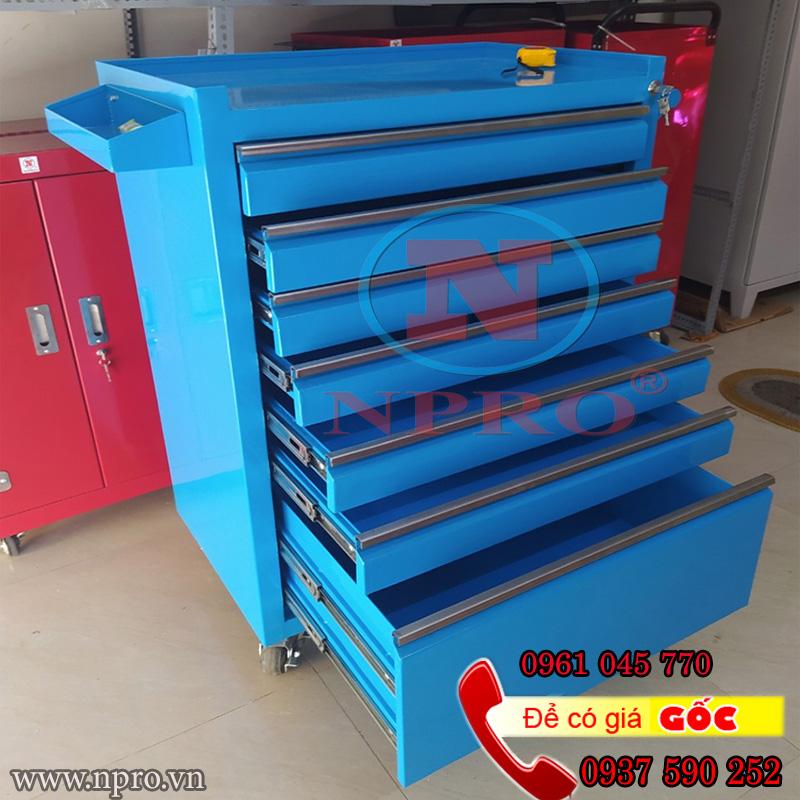 Tủ đồ nghề 7 ngăn, tủ đựng đồ nghề xe máy 7 ngăn
