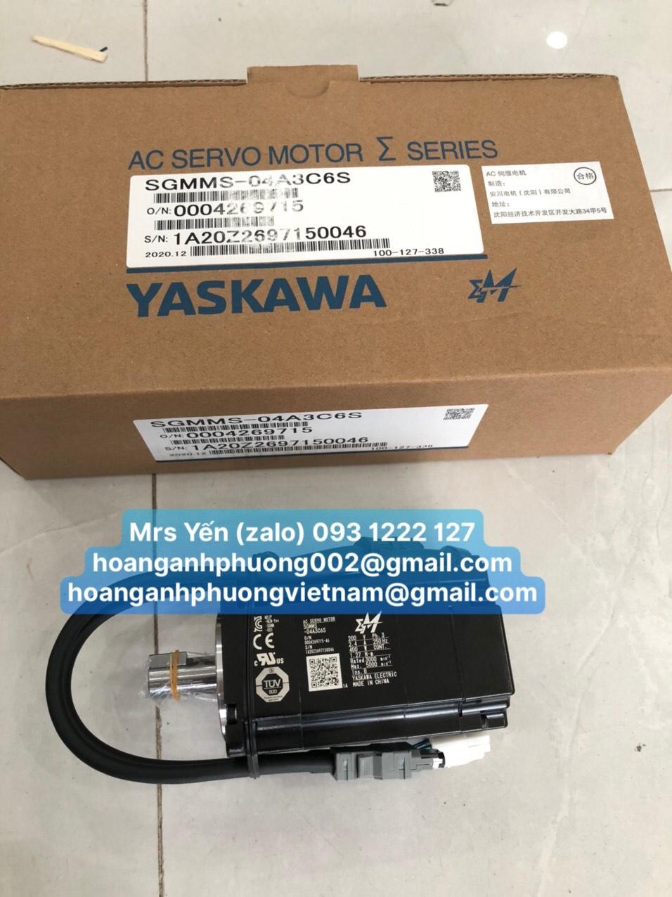 AC Servo SGMMS-04A3C6S 0.4KW 200V 2.4A-Cty Hoàng Anh Phương