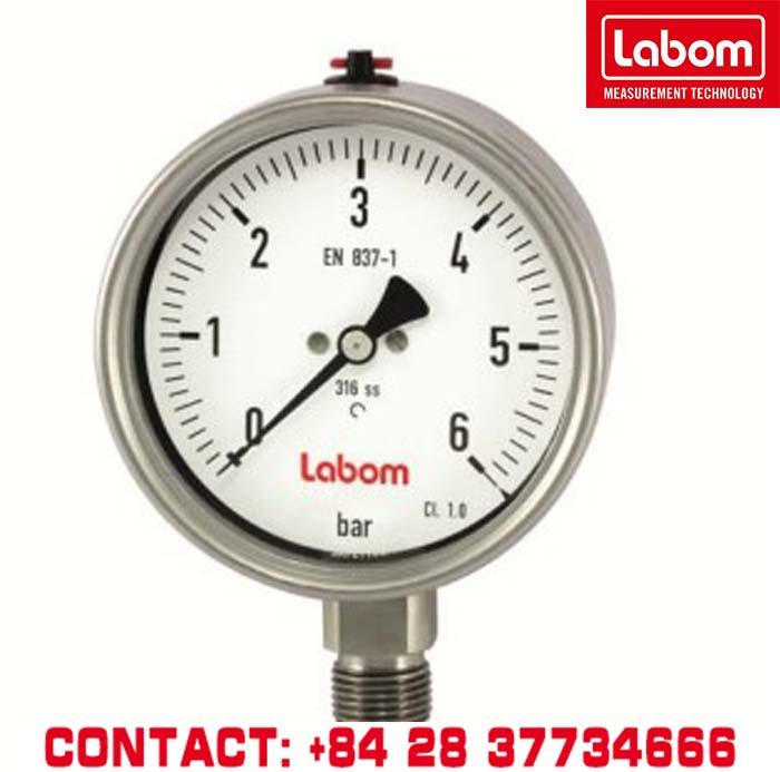 ĐỒNG HỒ ĐO ÁP SUẤT - BA5220-B2058 - Thiết bị đo áp suất, Áp kế, Nhiệt kế, Thiết bị đo công nghiêp - Labom