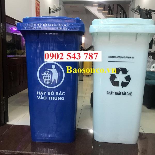 Thùng rác công cộng 240 lít giá ưu đãi
