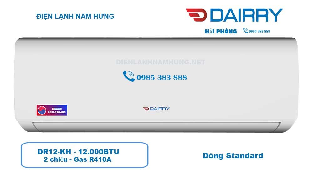 Điều hòa Dairry DR12-KH 12000BTU 2 chiều Giá Rẻ nhất Hải Phòng