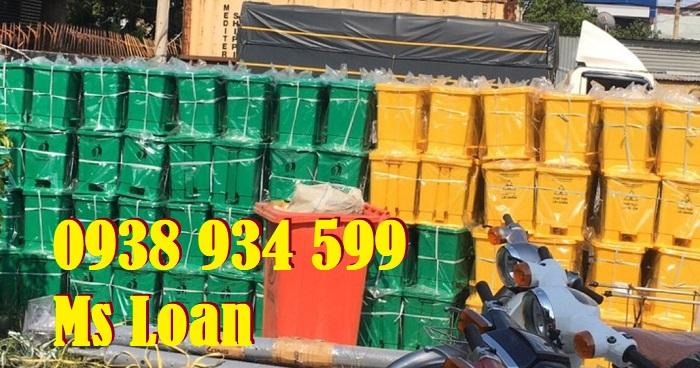 Thùng đựng rác thải covid 15l màu vàng