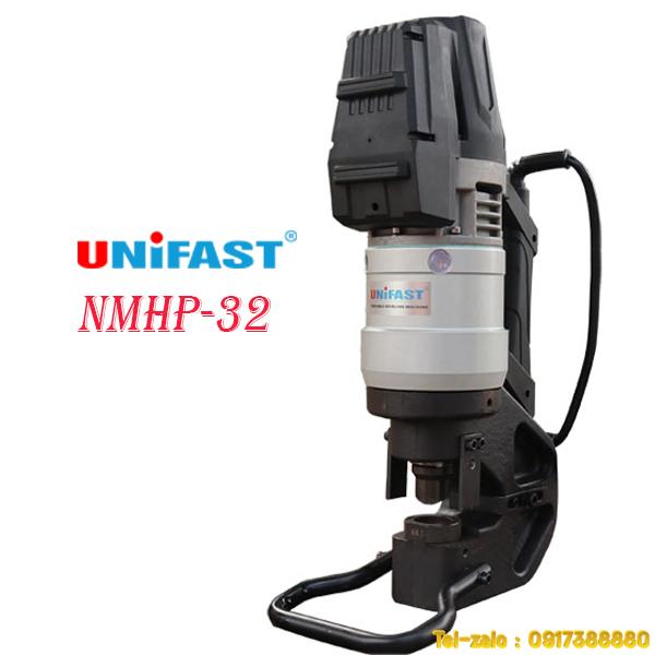 máy đột lỗ thủy lực cầm tay sắt dày 12mm lỗ 30mm model Unifast NMHP-32