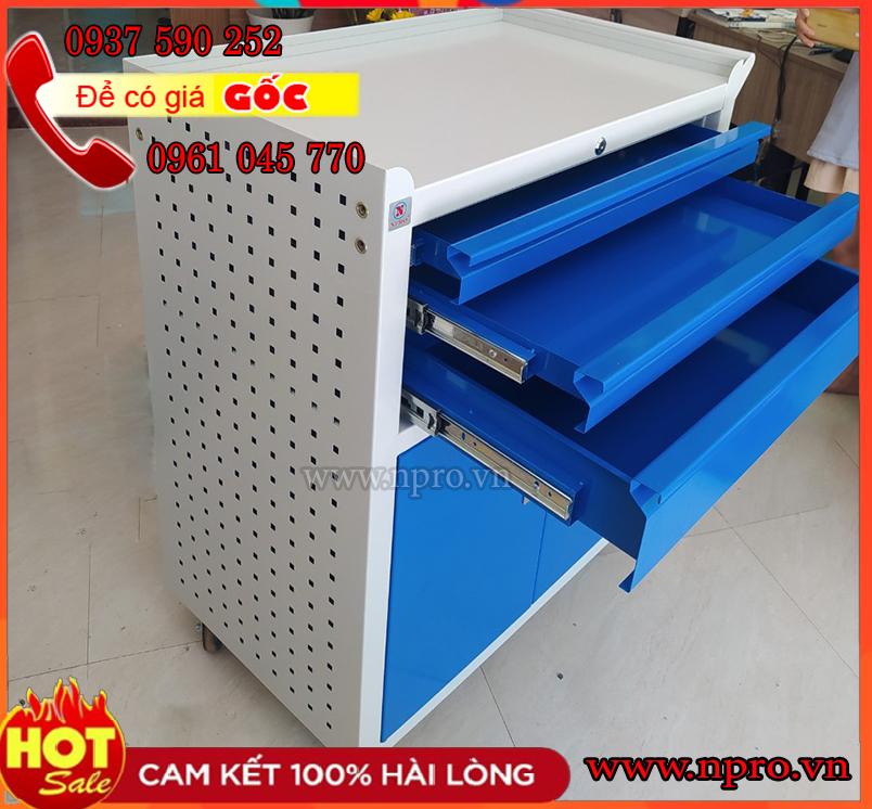 Tủ đồ nghề 4 ngăn ( Tủ dụng cụ 3 ngăn kéo 1 ngăn 2 cánh)