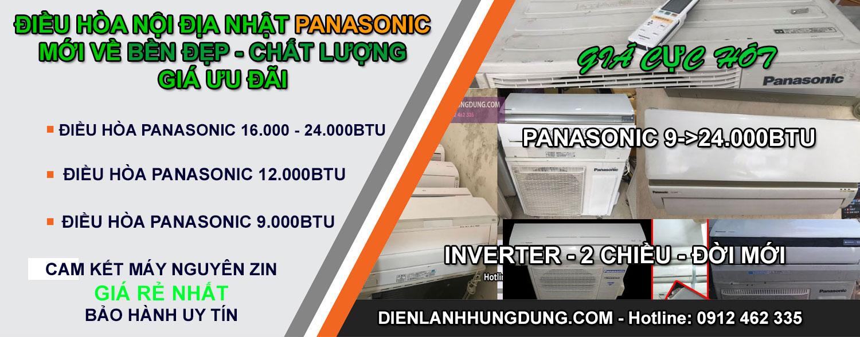 Điều hòa nội địa nhật Panasonic đẹp giá rẻ nhất Hà Nội