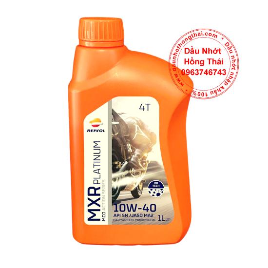 Dầu nhớt xe côn tay Repsol MXR Platinum 10W40 SN/MA2