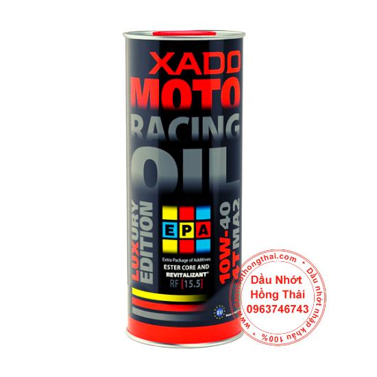 Dầu nhớt xe côn tay Xado Luxury Moto Racing 10W40 SN/MA2
