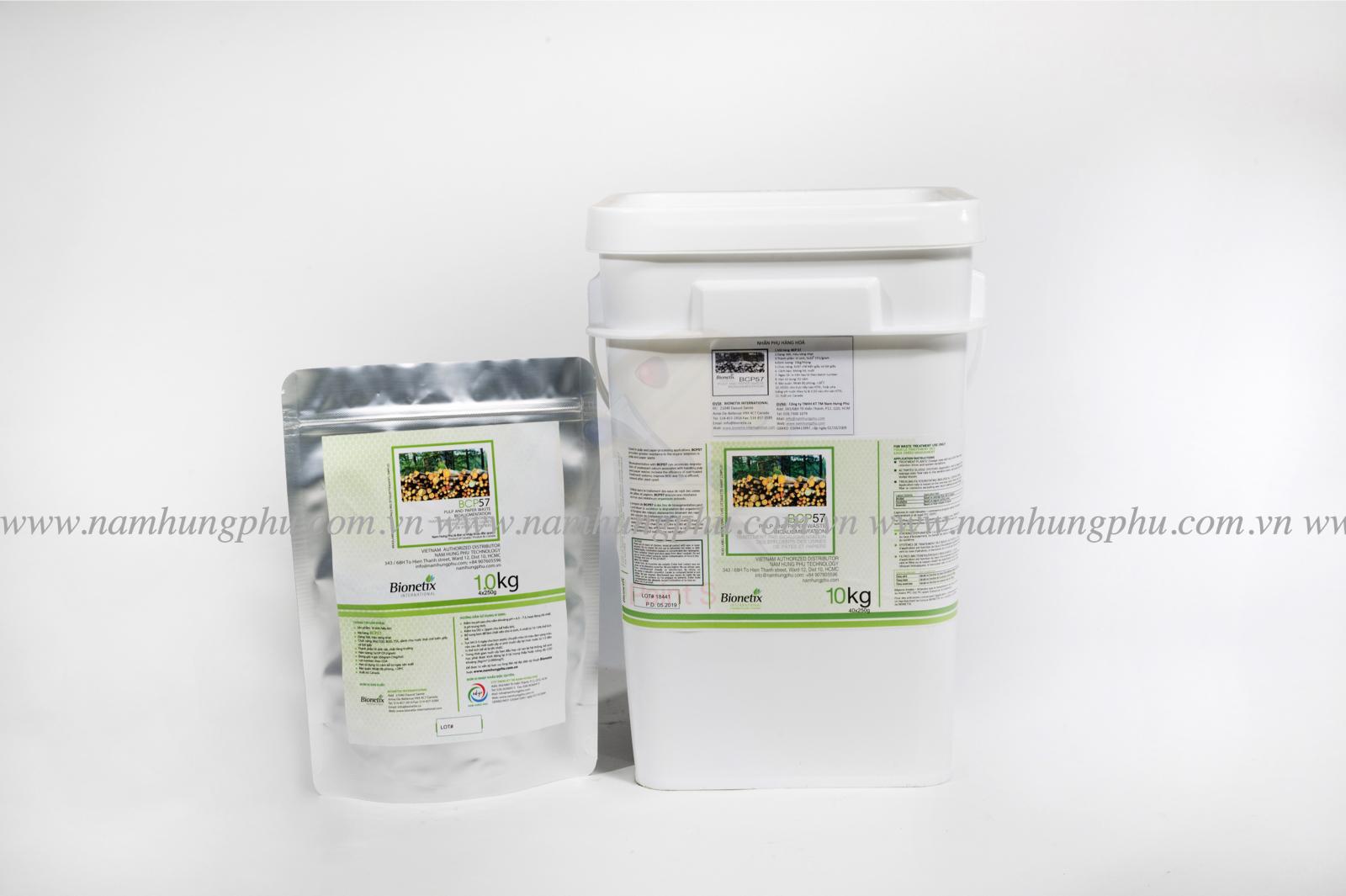 men vi sinh BCP57 xử lý nước thải ngành sản xuất giấy