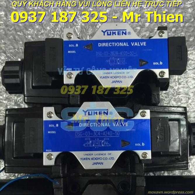 DSG-03-3C4-D24-50 – Van điều hướng – Yuken Vietnam – Đại lí cung cấp Yuken chính hãng tại Việt Nam