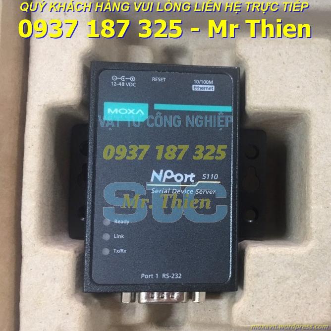 Nport 5110 – Bộ chuyển đổi tín hiệu – Moxa Vietnam – Đại diện phân phối Moxa chính hãng tại Việt Nam