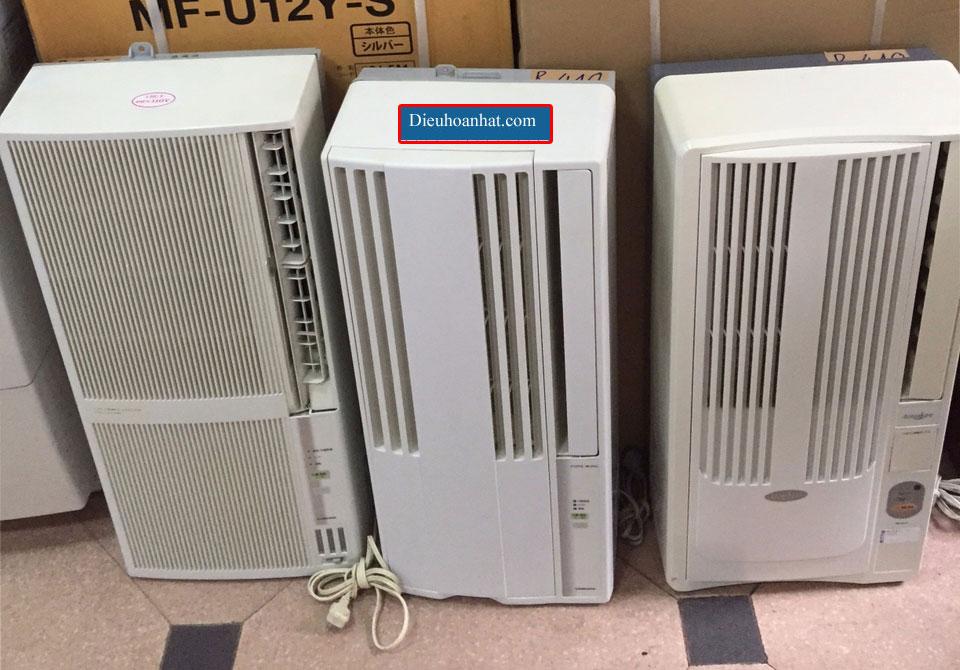 Điều hòa cửa số nội địa nhật 1 cục điện 100v, gas r410a rất tiện ích