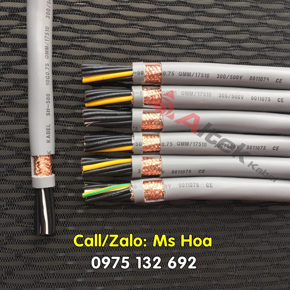 Cáp tín hiệu/Cáp điều khiển 10x0.5, 10x0.75, 10x1.0, 10x1.5mm2 hàng sẵn – Toàn quốc