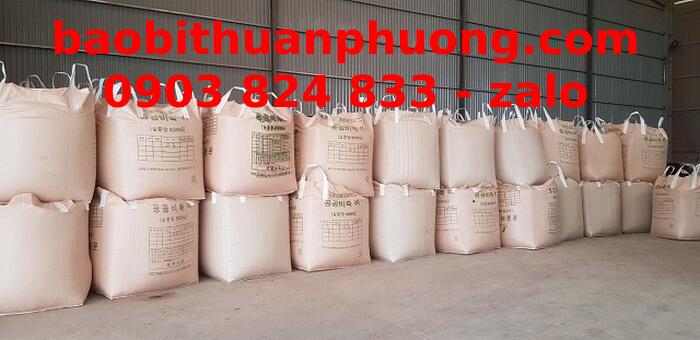 Túi jumbo 1 tấn, bao bì jumbo, giá bao jumbo ủ chua đã qua sử dụng